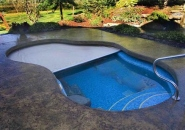 Free Form Pool with Automatic Cover