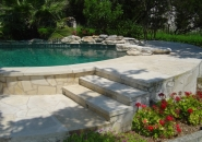 Pool and Spa with Diving Rock