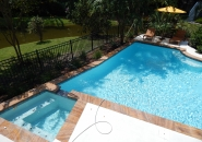 Pool and Spa with Deck Jets