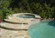 Raised Spa with Flagstone Steps