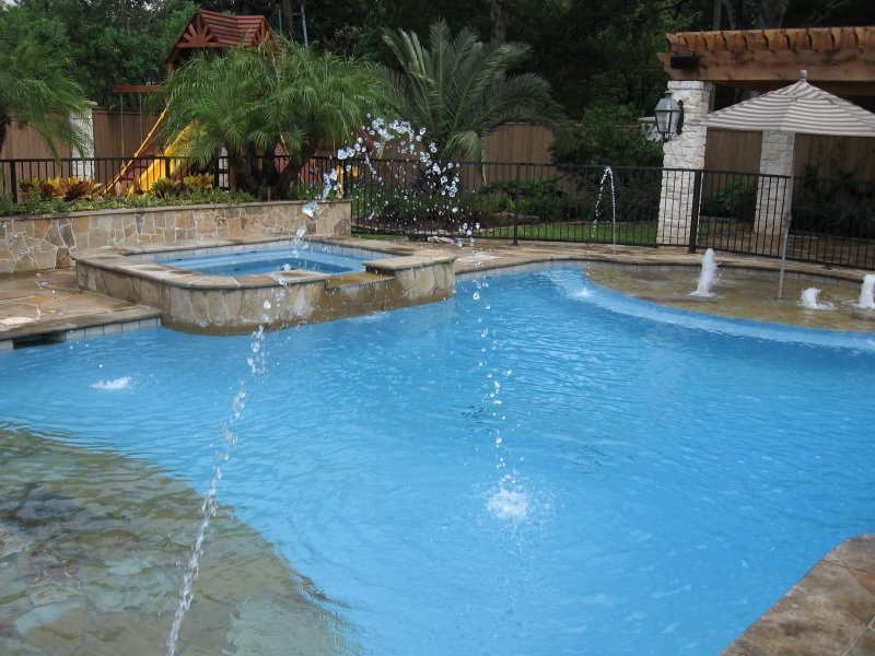 Dallas water feature photos plano pool design for Pool show dallas