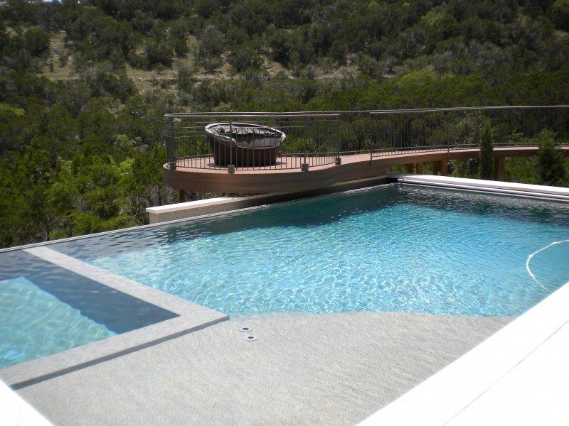 Cliffside Pool with Negative Ege and Raised Trek Deck