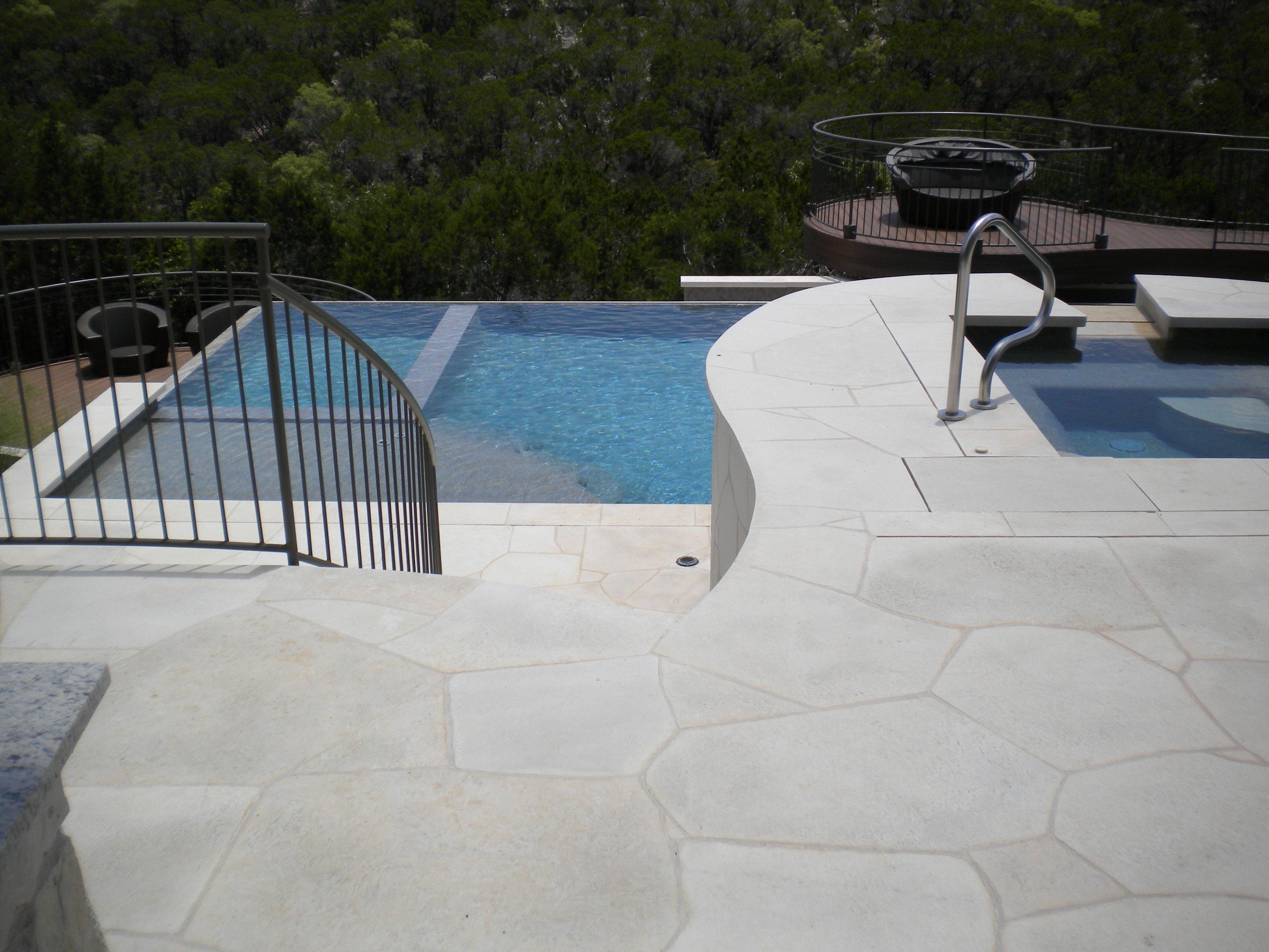Custom Spa Raised 5ft. Above Pool