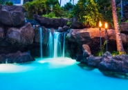 waterfall or a grotto